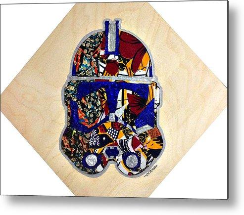 Clone Trooper Metal Print featuring the tapestry - textile Clone Trooper Star Wars Afrofuturist by Apanaki Temitayo M