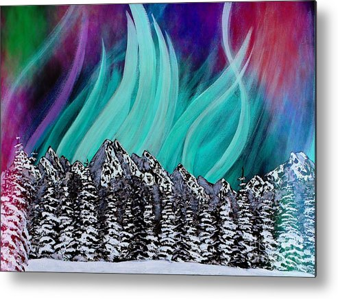 Colorful Sky Metal Print featuring the painting Colorful Sky by Barbara Griffin