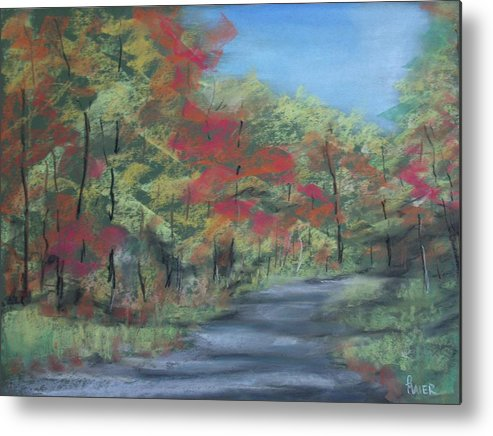 Landscape Metal Print featuring the painting Country Road II by Pete Maier
