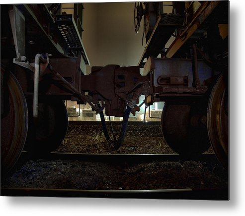 Train Metal Print featuring the photograph Coupling by Scott Hovind
