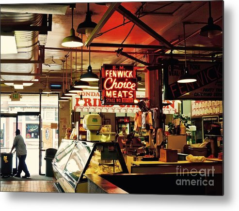 cross Street Metal Print featuring the photograph Cross Street Market In Baltimore by Doug Swanson