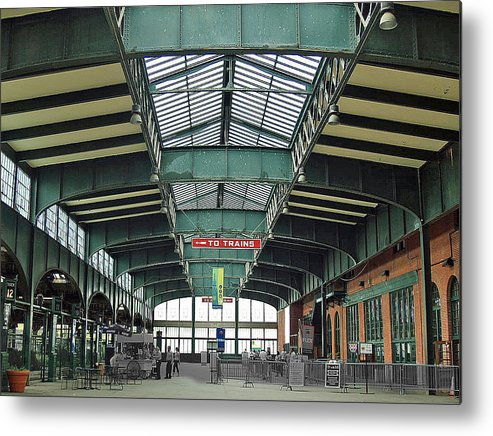 Railroad Metal Print featuring the photograph Crrnj Terminal Concourse by Frank Nicolato