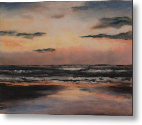 Beach Metal Print featuring the painting Dawn by Sarah Bernhardt