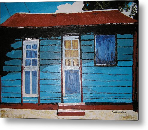 House Metal Print featuring the painting Daydreaming Blues by Ricklene Wren
