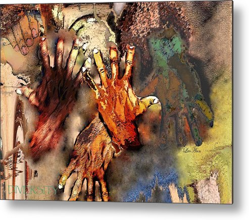 Abstract Metal Print featuring the photograph Diversity by LeeAnn Alexander