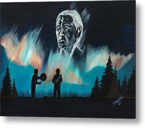 Drums Metal Print featuring the painting Drums by Derek Snapps Keenatch