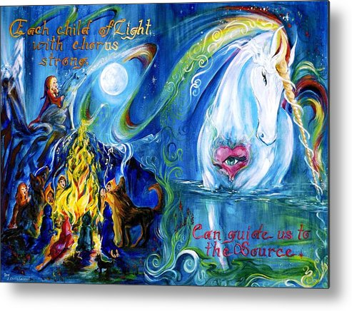 Wee Folk Metal Print featuring the painting Each Child Of Light... by Jennifer Christenson