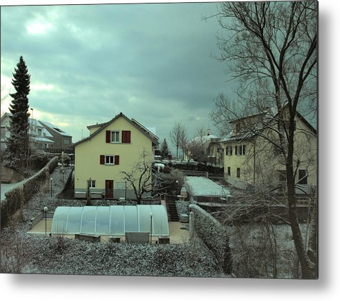 Snow Metal Print featuring the photograph Early Spring Morn by Chuck Shafer