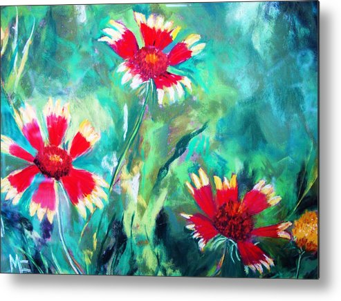 Flowers Metal Print featuring the painting East Texas Wild Flowers by Melinda Etzold