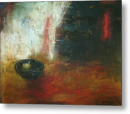 Contemporary Painting Metal Print featuring the painting El Pan De Cada Dia by Marco Solis