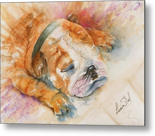 Watercolour Metal Print featuring the painting Enzo by Lucia Del