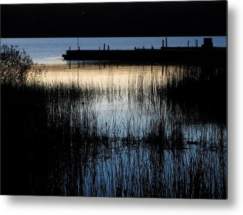 Lake Metal Print featuring the photograph Evening Glow by Mary Wolf