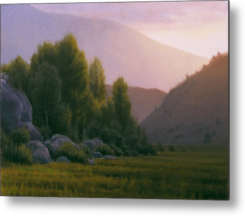 Landscape Metal Print featuring the painting Evening Grace by Joe Mancuso
