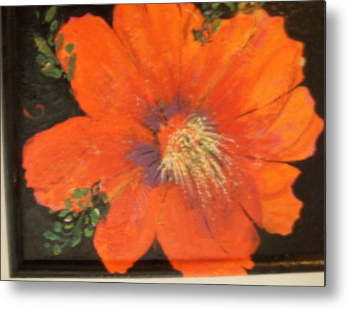 Redflower Metal Print featuring the painting Every Day Is A Holiday by Anne-Elizabeth Whiteway