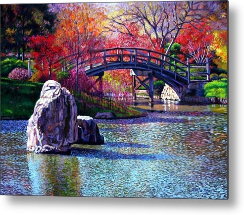 Garden Metal Print featuring the painting Fall In The Garden by John Lautermilch