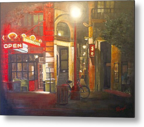 Chinatown Metal Print featuring the painting Fan Tan Alley by Victoria Heryet