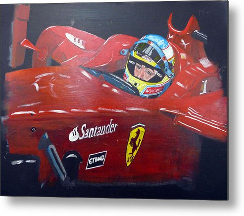 Ferdinand Alonso Metal Print featuring the painting Ferdinand Alonso by Richard Le Page