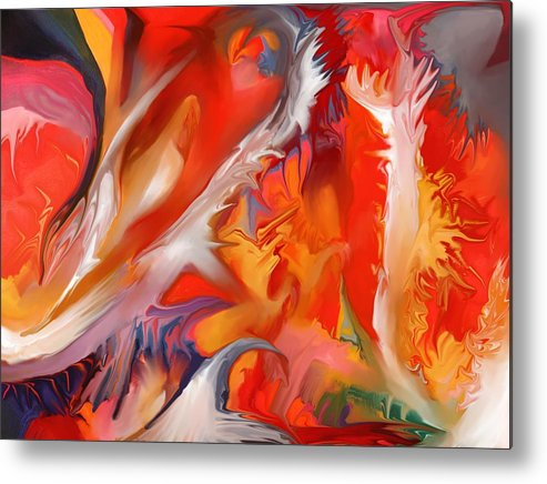 Fire Metal Print featuring the painting Fire Storm by Peter Shor