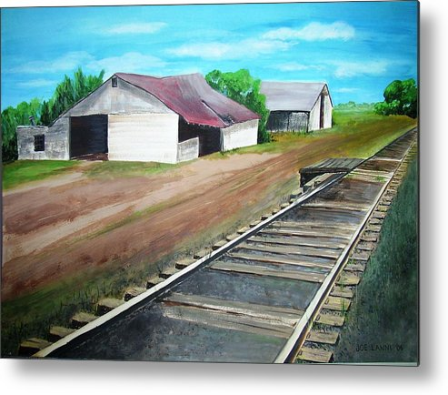 Landscape Metal Print featuring the painting Flemington R.r. by Joe Lanni