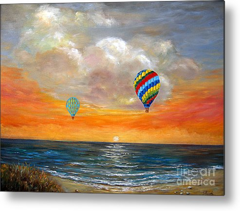 Landscape Metal Print featuring the painting Fly Away 22 by Jeannette Ulrich