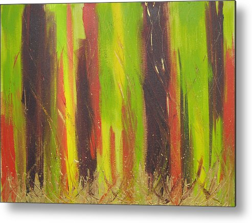 Forest Metal Print featuring the painting Forest by Jolene Courtemanche