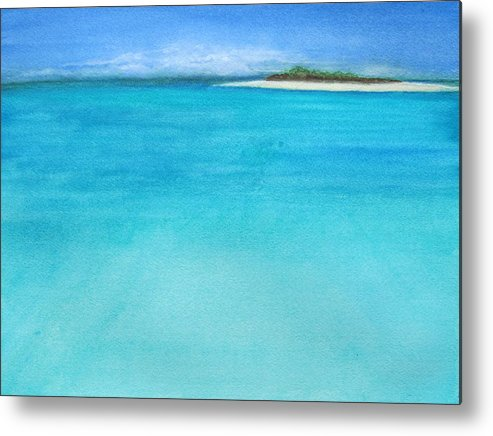 Island Metal Print featuring the painting Forever by Leslie Gustafson