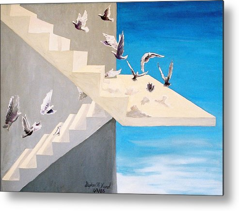 Birds Metal Print featuring the painting Form Without Function by Steve Karol
