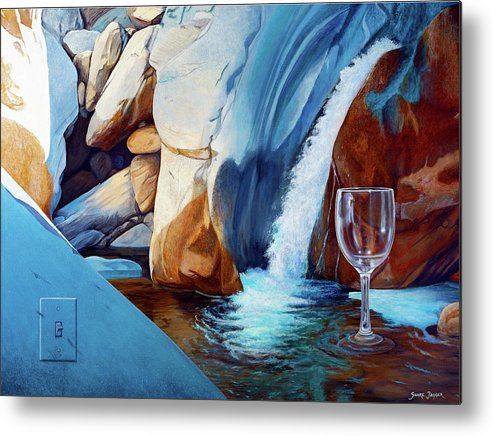 Landscape Metal Print featuring the painting Fragile Moments by Snake Jagger
