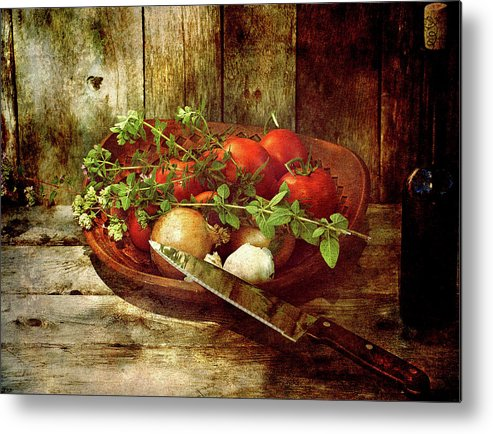 Abstract Metal Print featuring the photograph Fresh. by Kelly Nelson