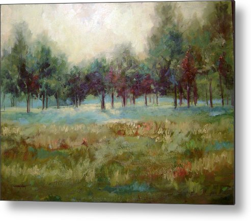 Country Scenes Metal Print featuring the painting From The Other Side by Ginger Concepcion