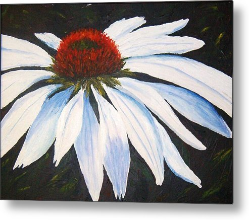 Cone Flowers Metal Print featuring the painting Ghost Cone by Tami Booher