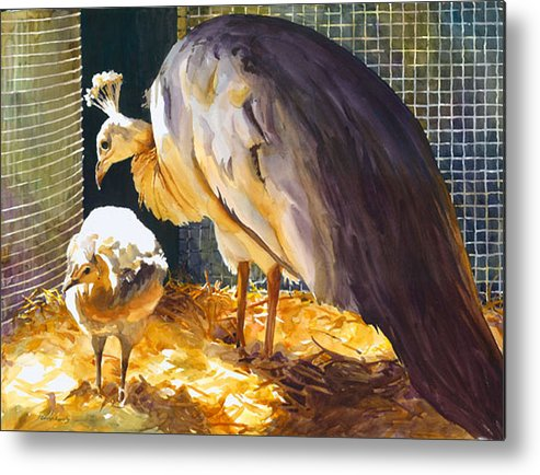 Metal Print featuring the painting Glowing With Pride by Carolyn Epperly