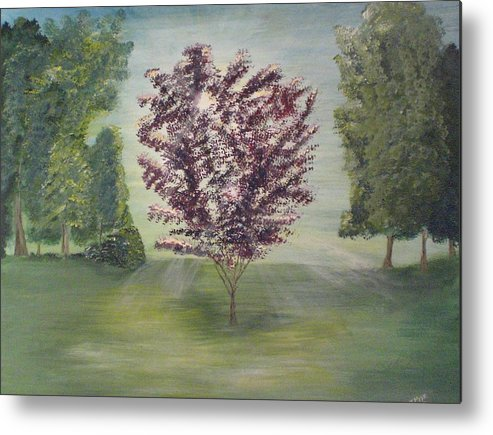 Tree Metal Print featuring the painting Good Morning by Jessica Mason