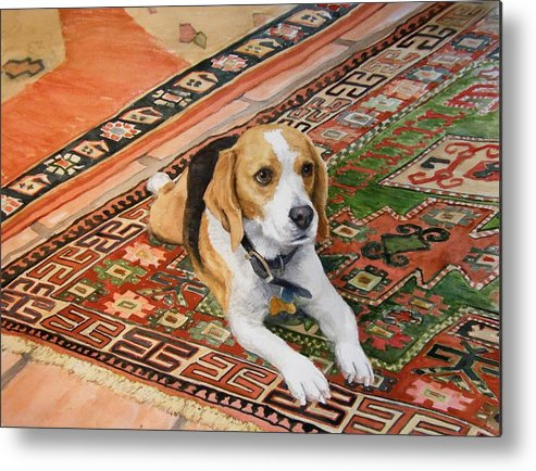 Akc Metal Print featuring the painting Harley by Debra Jones