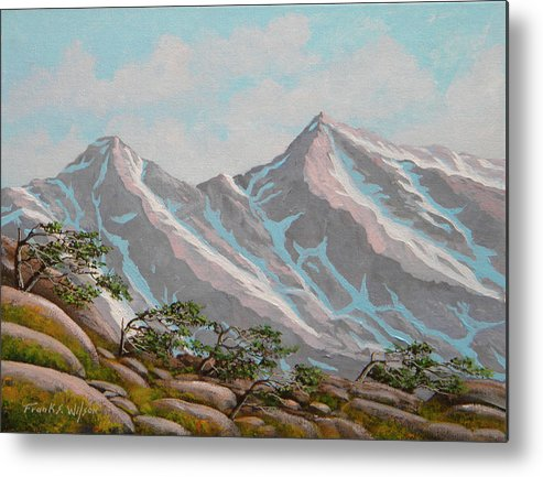 Frank Wilson Metal Print featuring the painting High Sierras Study IIi by Frank Wilson