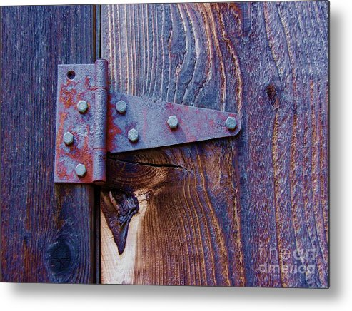 Hinge Metal Print featuring the photograph Hinged by Debbi Granruth