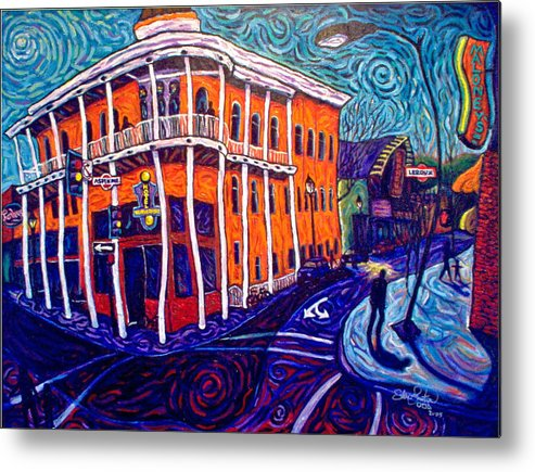 Historic Metal Print featuring the painting Historic Hotel Weatherford by Steve Lawton