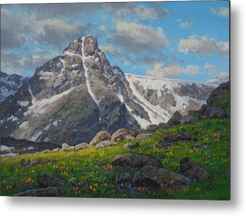 Landscape Metal Print featuring the painting Holy Cross Wilderness by Lanny Grant