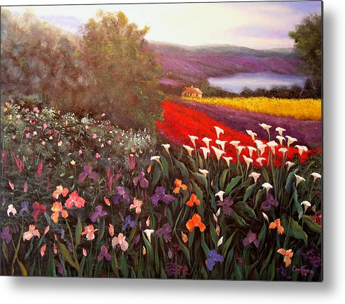 Connie Tom Metal Print featuring the painting Home In Tuscany by Connie Tom