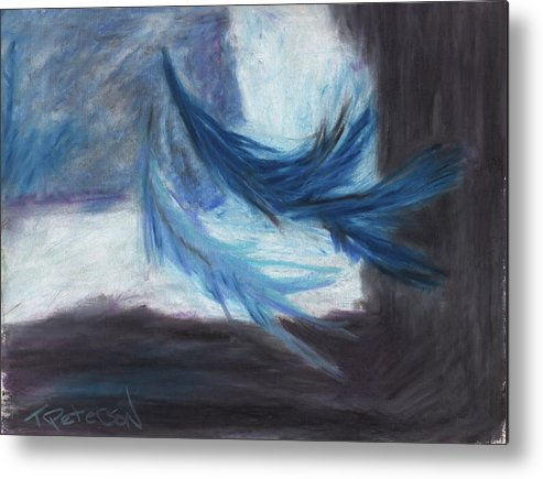 Abstract Metal Print featuring the painting I Dreamt Of Flight by Todd Peterson