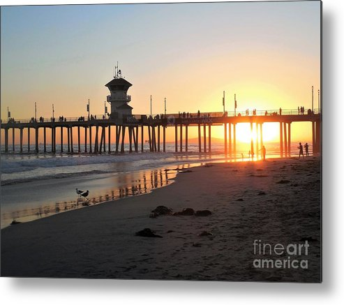 Sunset Metal Print featuring the photograph Into The Light by Jodi Horist