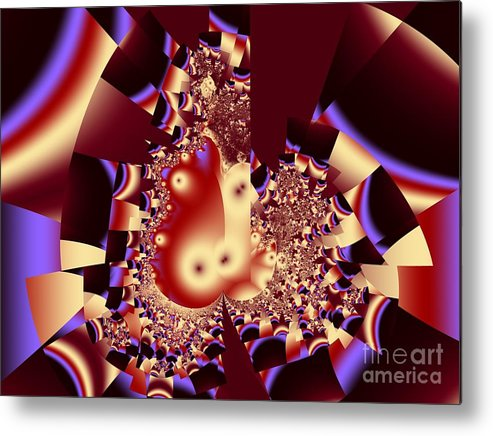 Fractal Art Metal Print featuring the digital art Into The Well by Ron Bissett