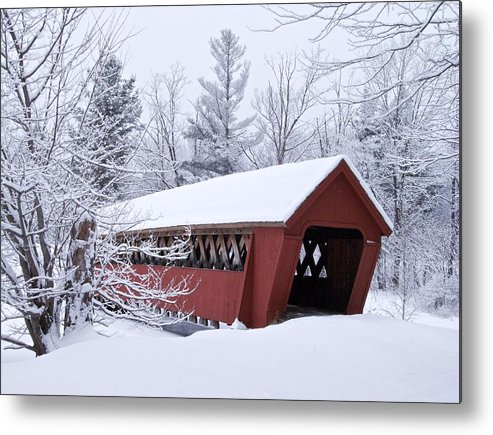 Bridge Metal Print featuring the photograph Jack O'lantern Covered Bridge by James Walsh
