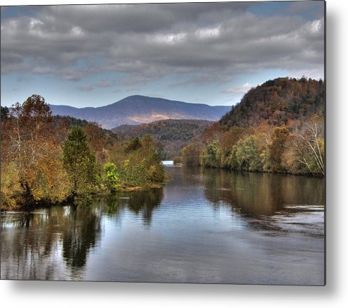 Landscape Metal Print featuring the photograph James River 1 by Michael Edwards