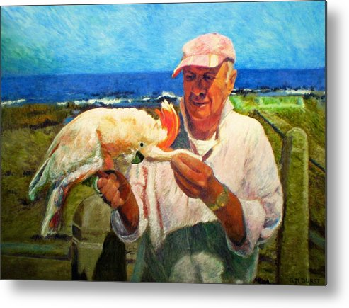 Bird Metal Print featuring the painting Jergens And Honey by Michael Durst