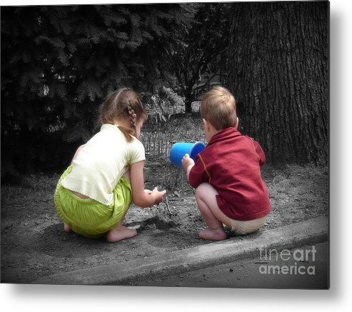 Children Metal Print featuring the photograph Kids by Rick Monyahan