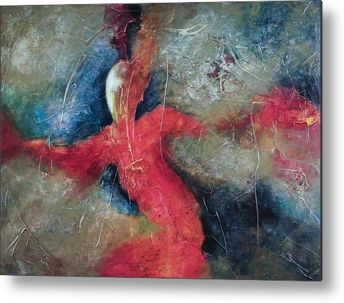 Dance Metal Print featuring the painting Lady Of Dance by Marie Baehr