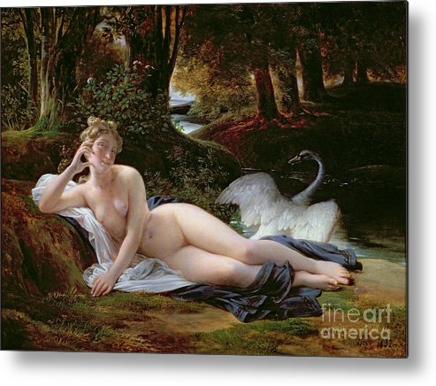 Leda Metal Print featuring the painting Leda And The Swan by Francois Edouard Picot