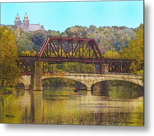 Lehigh Metal Print featuring the photograph Lehigh River - Easton Pa by Bill Cannon