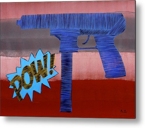 Gun Metal Print featuring the painting Lib - 142 by Mr CAUTION